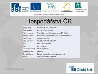 Hospodářství ČR
