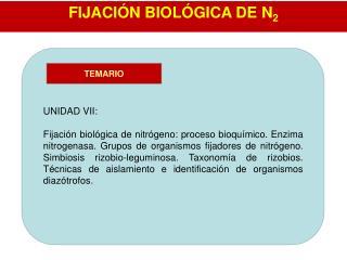 FIJACIÓN BIOLÓGICA DE N 2