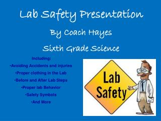 Lab Safety Presentation By Coach Hayes Sixth Grade Science