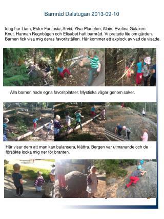 Barnråd  Dalstugan 2013-09-10