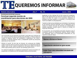 Bolet n Informativo                                           A o 7     No. 33
