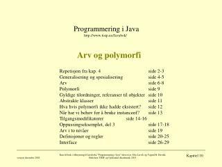 Arv og polymorfi
