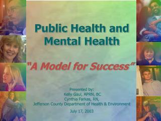 Public Health and  Mental Health