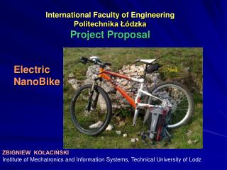 International Faculty of Engineering Politechnika Łódzka Project Proposal