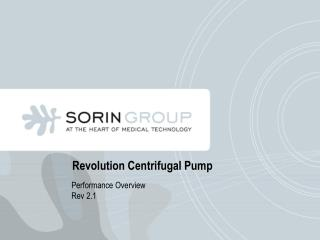 Revolution Centrifugal Pump