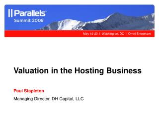 Valuation in the Hosting Business