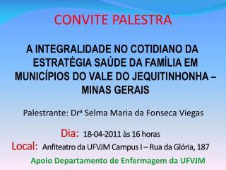 CONVITE PALESTRA