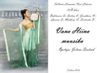 Vana Hiina muusika