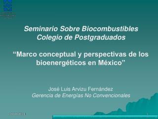 Seminario Sobre Biocombustibles Colegio de Postgraduados