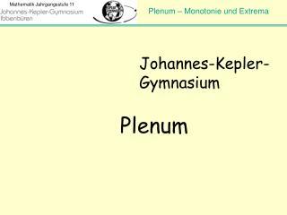 Johannes-Kepler-Gymnasium Plenum