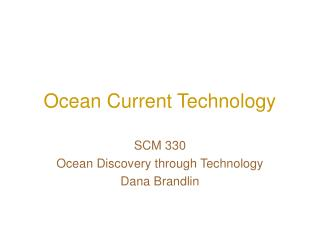 Ocean Current Technology