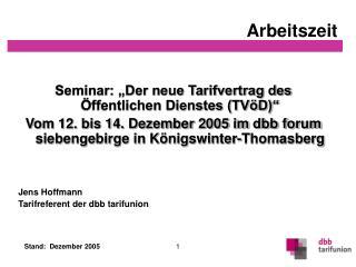 """Seminar: """"Der neue Tarifvertrag des Öffentlichen Dienstes (TVöD)"""""""