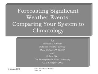 Forecasting Significant Weather Events: