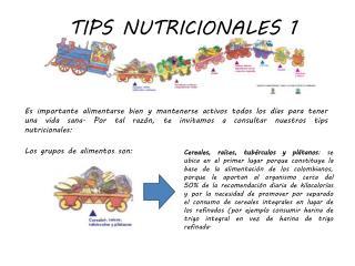TIPS NUTRICIONALES 1
