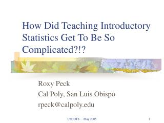 How Did Teaching Introductory Statistics Get To Be So Complicated?!?