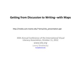 Getting from Discussion to Writing--with Maps