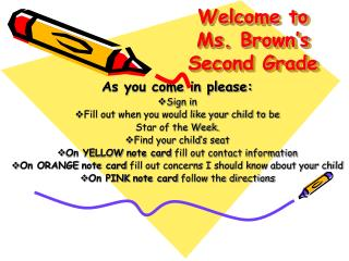 Welcome to  Ms. Brown's Second Grade