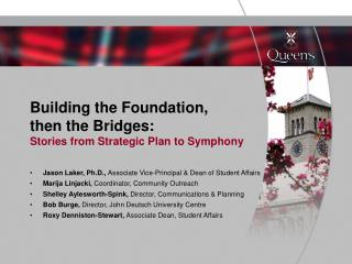 Building the Foundation, then the Bridges: Stories from Strategic Plan to Symphony