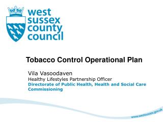 Tobacco Control Operational Plan