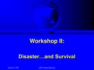 Workshop II:
