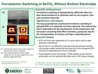 Ferroelectric Switching of BaTiO 3  Without Bottom Electrodes
