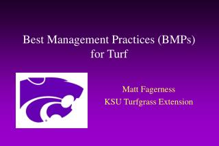 Best Management Practices (BMPs) for Turf