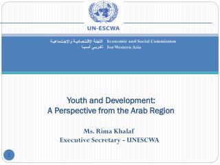 Youth and Development:  A Perspective from the Arab Region