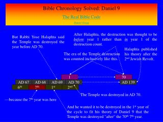 Bible Chronology Solved: Daniel 9 The Real Bible Code Daniel Gregg