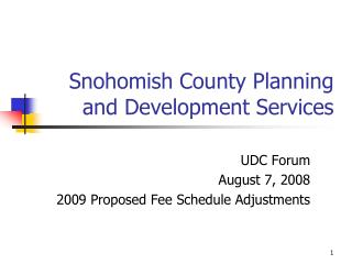 Snohomish County Planning and Development Services