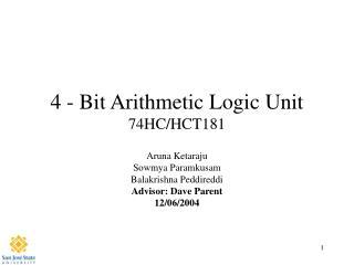4 - Bit Arithmetic Logic Unit 74HC/HCT181