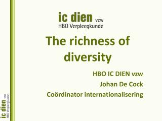The richness of diversity