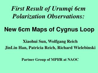 First Result of Urumqi 6cm Polarization Observations: