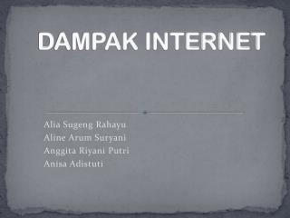 DAMPAK INTERNET