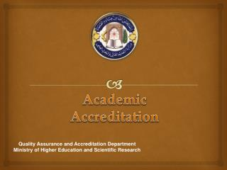 Academic Accreditation