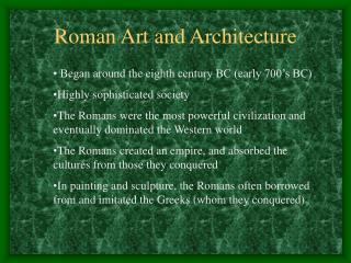 Roman Art and Architecture