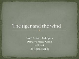 The tiger and the wind