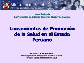 Lineamientos de Promoción de la Salud en el Estado Peruano