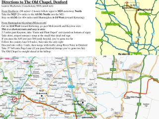 Directions to The Old Chapel, Denford Lauren Mackenzie (l.mackenzie.98@cantab)
