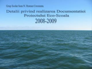 Detalii privind realizarea Documentatiei  Proiectului Eco-Scoala