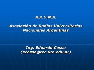 Inicios de la Radiofonía Universitaria