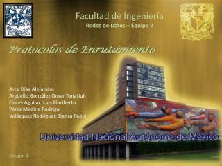 Facultad de Ingeniería Redes de Datos – Equipo 9