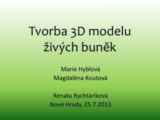 Tvorba 3D modelu �iv�ch bun?k