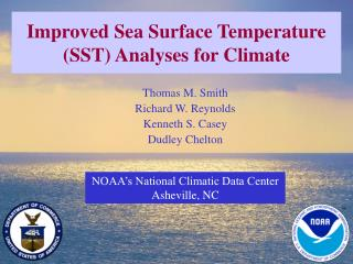 Improved Sea Surface Temperature (SST) Analyses for Climate