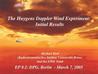 EP 8.2: DPG, Berlin  - March 7, 2005