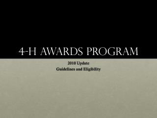 4-H Awards Program