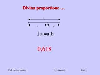 Divina proportione …