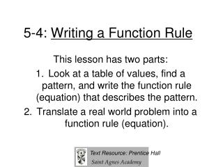 5-4:  Writing a Function Rule