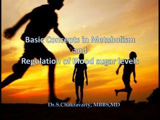 Basic Concepts in Metabolism and  Regulation of Blood sugar levels