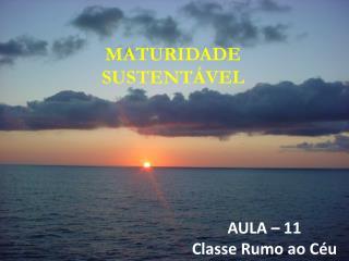MATURIDADE SUSTENTÁVEL