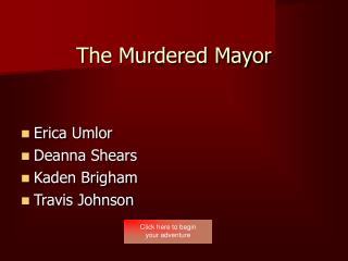The Murdered Mayor